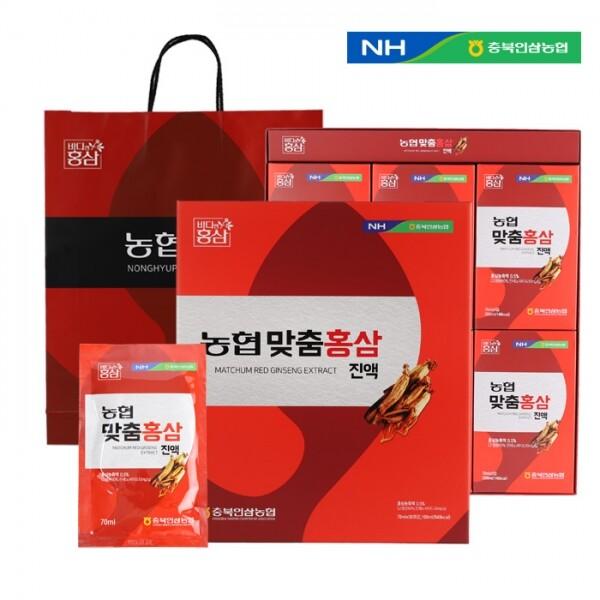 충북인삼농협 맞춤홍삼진액 70ml x 30포(쇼핑백 포함)