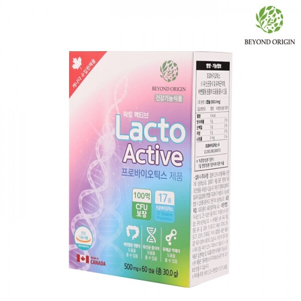 비욘드오리진 락토액티브 모유유산균 프로바이오틱스 500mg x 60캡슐