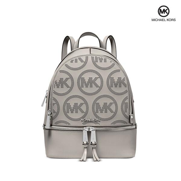 MICHAEL KORS 마이클코어스 Rhea Zip Medium Leather Backpack Monogram 백팩