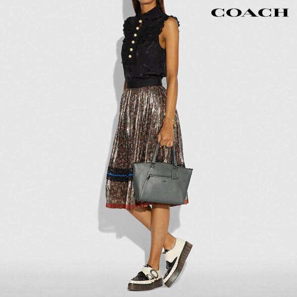 COACH 코치 Metallic Leather Prairie Satche 토트백