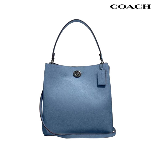 COACH 코치 Charlie Bucket Bag stone blue 버킷 크로스백