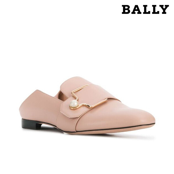 BALLY 발리 Maelle 500 Pearl Pink Beige Leather Loafers 마엘로퍼 핑크베이지