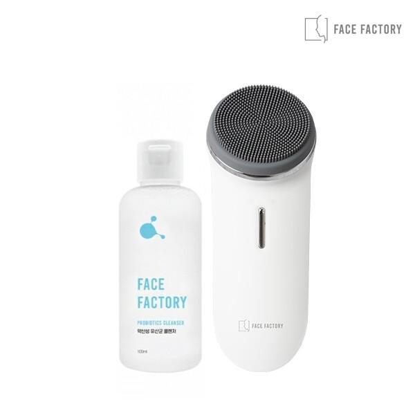 페이스팩토리 진동 클렌저 미세먼지 모공브러쉬 울트라딥클렌저 + 프로바이오틱스 약산성 클렌저 100ml(피부장벽 강화 및 피부균형 유지)