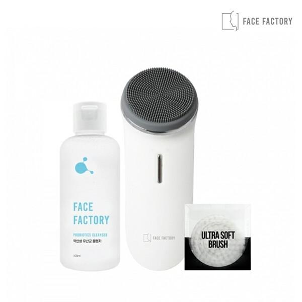 페이스팩토리 진동 클렌저 미세먼지 모공브러쉬 울트라딥클렌저 + 전용 미세모 + 프로바이오틱스 약산성 클렌저 100ml(피부장벽 강화 및 피부균형 유지)