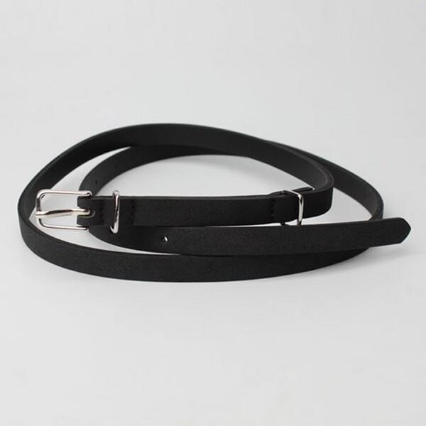 패션포인트 쌍가락지 여자벨트 (색상 : 블랙)