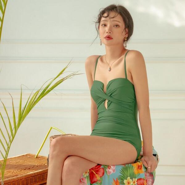 벤디스 세레니티 모던 섹시 모노키니 F360 (사이즈 : L / 색상 : 그린)