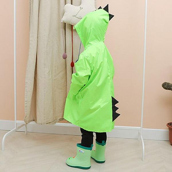 다이노 공룡우비 +파우치 (사이즈 : XL / 색상 : 그린)