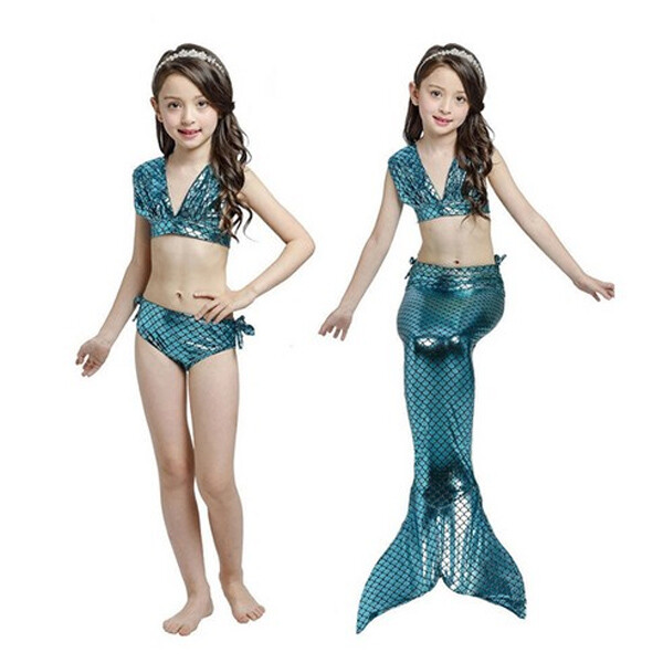 인어공주 수영복 (사이즈 : 140 / 색상 : 에메랄드)