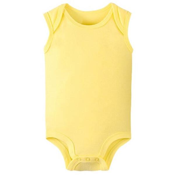 맘스케어 유아용 무지 민소매 수트 G003BCBBS033 (사이즈 : 6m  3-6개월이내 / 색상 : 옐로우 )