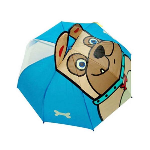 아동용 캐릭터 입체 우산 (불독)