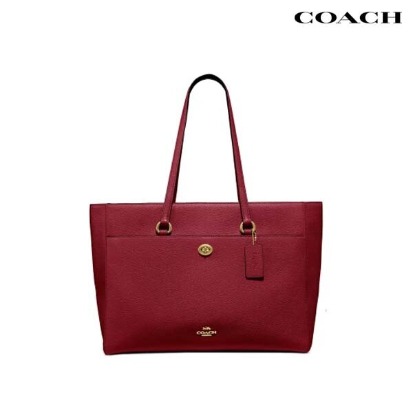 Coach 코치 Folio Leather Tote Bag 토트백