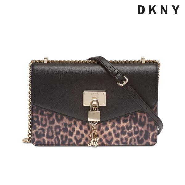 DKNY 디케이엔와이 Elissa Leopard Shoulder Flap Bag 숄더백 (장식 자물쇠부분 스크래치)