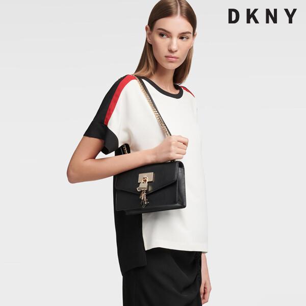 DKNY 디케이엔와이 Elissa Small Shoulder Flap Bag 숄더백 (구김있음)