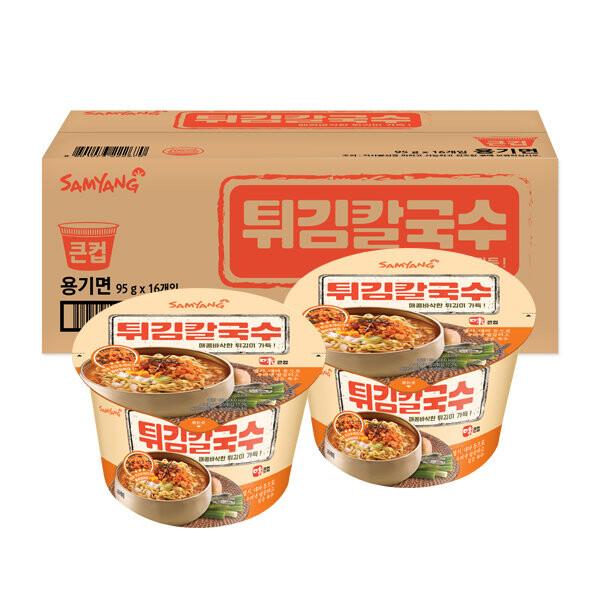 [사전예약행사! 1/20부터순차출고] 삼양 큰컵 튀김칼국수 16개입 * 95g 1BOX
