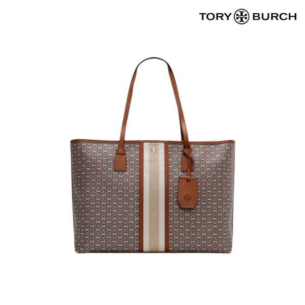 Tory Burch 토리버치 Gemini Link Canvas Top Zip Tote 토트백