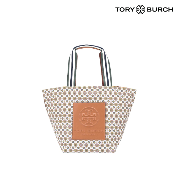 Tory Burch 토리버치 Gracie Mixed Print Canvas Tote 토트백