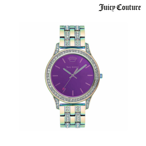 Juicy Couture 쥬시 꾸뛰르 Black Label Swarovski Crystal Pink/Purple 여성 시계