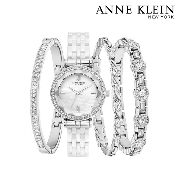 Anne Klein New York 앤클라인 뉴욕 1367663 여성 시계+세라믹팔찌