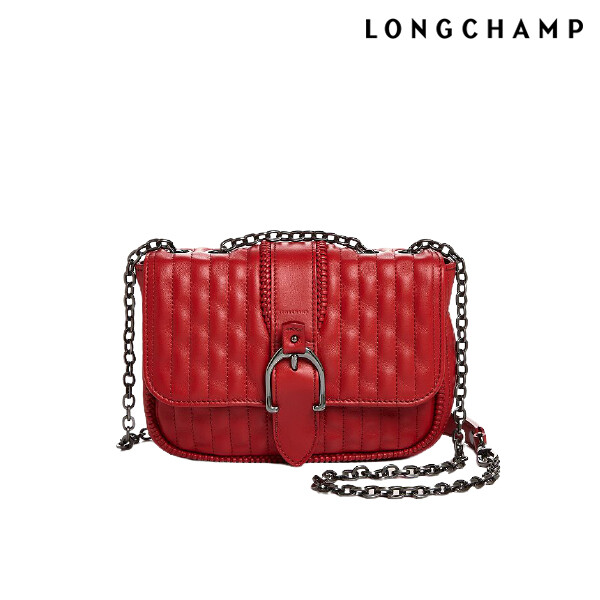 [얼리찬스!~03/8까지]  Long Champ 롱샴 Amazone Mat Mini red Cross Bag 크로스백