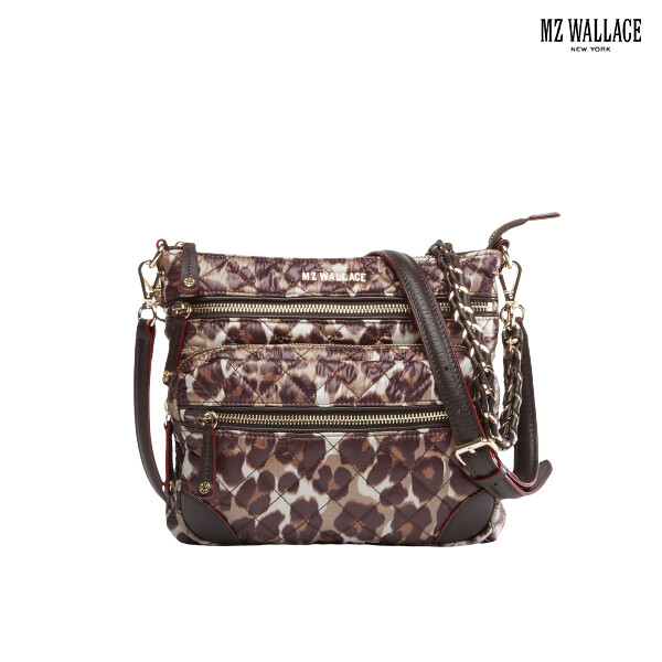 MZ Wallace 미즈 왈레스 Downtown Crosby Leopard crossbody bag 크로스백