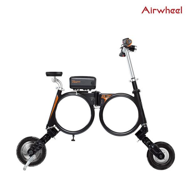 [얼리찬스!~03/9까지]  에어휠 초소형 접이식 전동 스쿠터 Airwheel E3 블랙&화이트(8인치타이어/주행거리 25~30Km/무게 12.5kg)