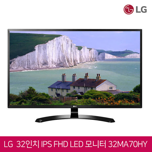 LG전자 32인치 IPS FHD LED 모니터 32MA70HY (리더모드/다중,멀티 작업지원/DP, HDMI, D-SUB 단자지원/HDMI케이블동봉/1920*1080 FHD)