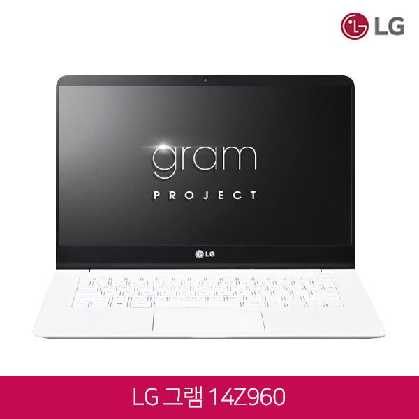 6세대 코어i3 LG전자 울트라PC그램 14Z960 화이트 (코어i3-6100U/램4G/SSD128G/인텔HD520/무선랜/14인치 1920*1080/윈도우10)
