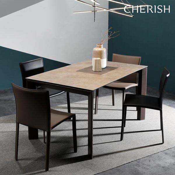 체리쉬 세라토2 스탠다드 세라믹 식탁 확장형 빈티지그레이(4~8인용 확장형 식탁)