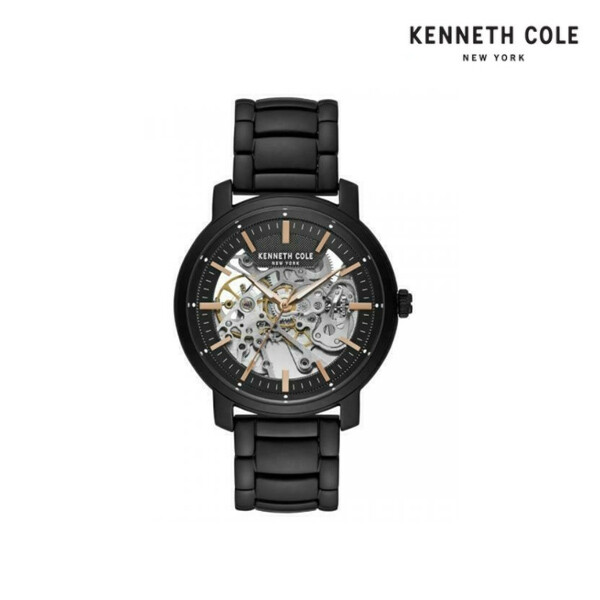 KENNETH COLE 케네스콜 Automatic Black Tone Skeleton Dial Steel Watch KC50776023 남성시계