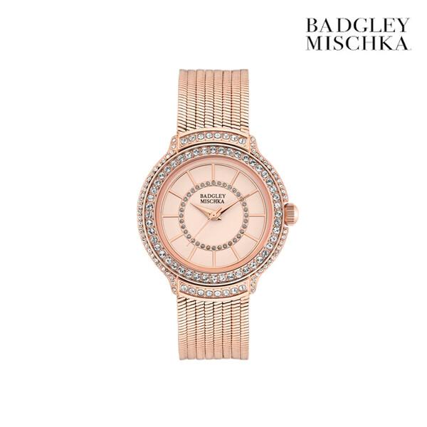 BADGLEY MISCHKA 배즐리미슈카 ROSE GOLD AND CRYSTAL EMBELLISHED  BA/1398RGRG 여성시계