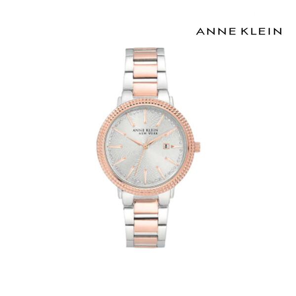 ANNE KLEIN Women's 36mm Silver Rose Gold Swarovski Crystal 여성 손목 시계