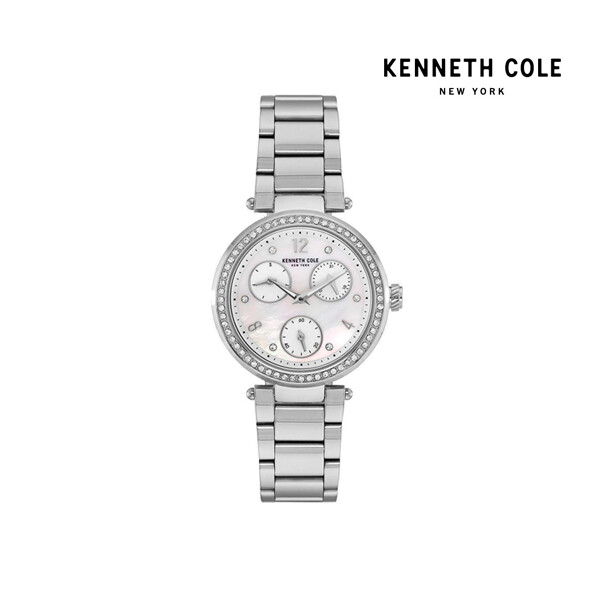 KENNETH COLE 케네스콜 Stainless Steel Band Mother-of-Pearl Dial Watch 여성 손목 시계