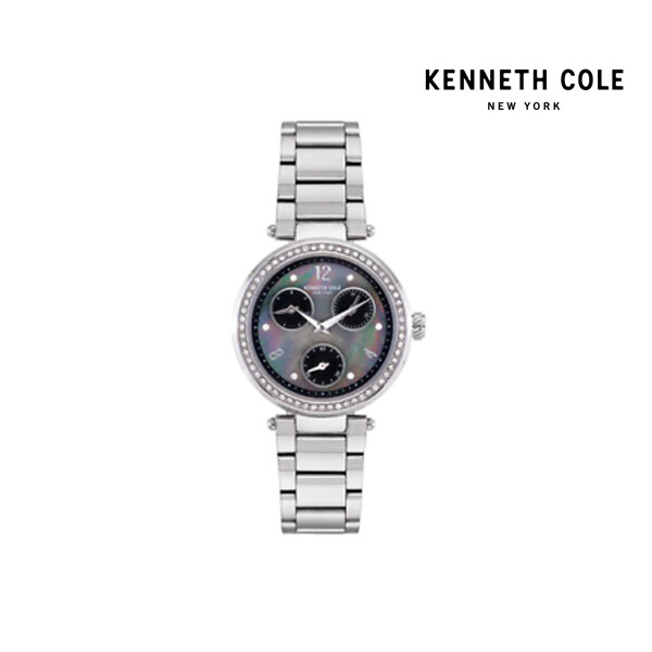 KENNETH COLE 케네스콜 Crystal Accented Dial Multi-function Wh15 여성 손목 시계