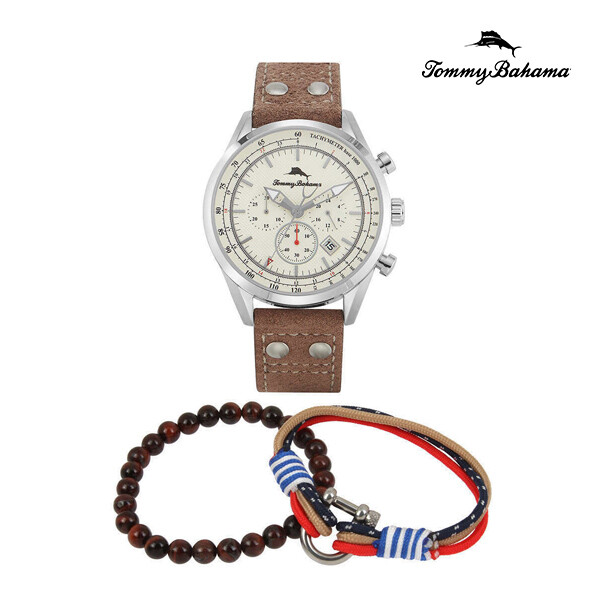 TOMMY BAHAMA 토미 바하마 Shore Road Chronograph Watch 313525SLV040 남성 명품 시계