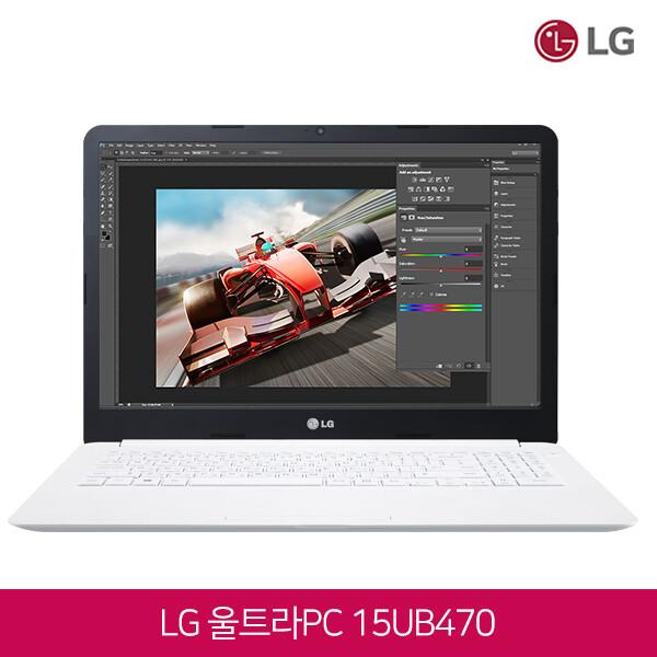 6세대 코어i5 LG노트북 15UB470 화이트 (코어i5-6200U/램8G/SSD128G + HDD500G/지포스940MX/웹캠/무선랜/15.6 IPS FHD 1920*1080/윈도우10)