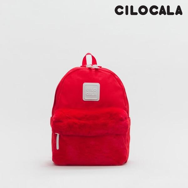 CILOCALA 시로카라 클래식 퍼 백팩 M TOMATO CLB002FTO (RED 레드 / M 사이즈)_리씽크팀