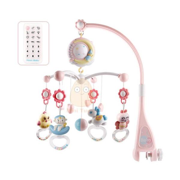 유아용 침대 고정 딸랑이 장난감 (색상 : 핑크)