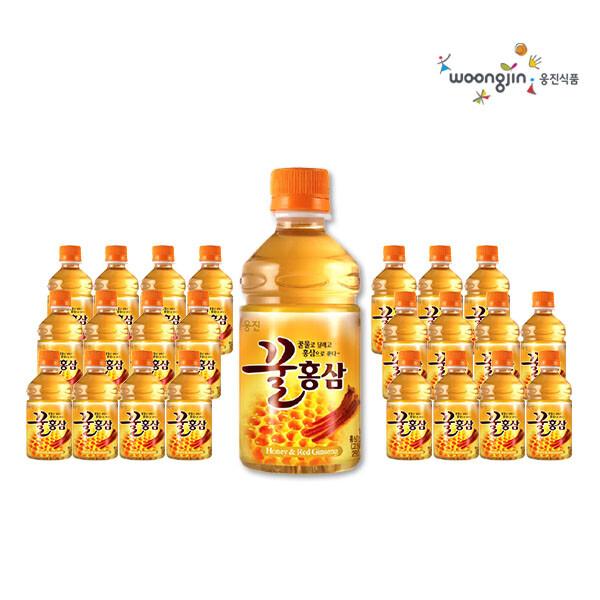 웅진식품 꿀홍삼 280ml x 24펫 (유통기한 : 2021년 10월 16일 까지)_리씽크팀