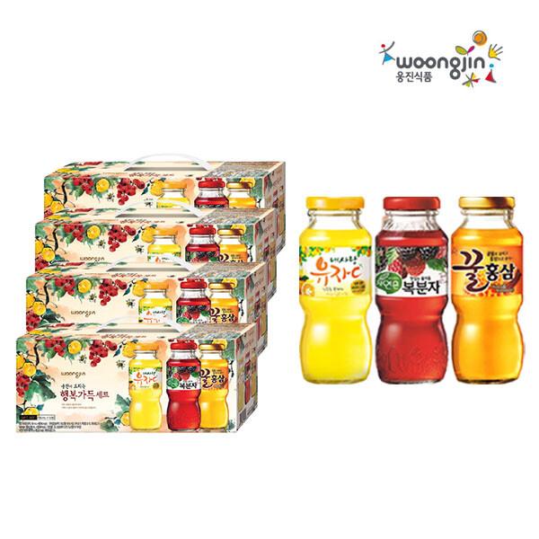 웅진 행복가득 180ml x 12개입 선물세트 4박스 (유통기한 : 2021년 9월 5일 까지)