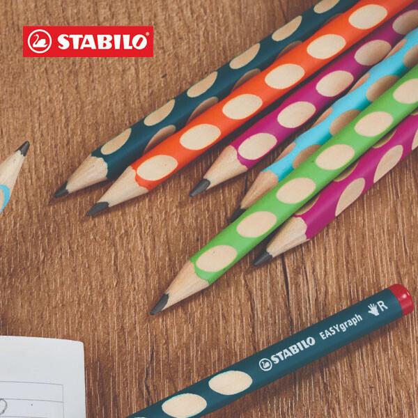 우리아이 첫 번째 연필 !! STABILO 스타빌로 이지그래프 교정연필 12개 + 연필깎이세트 학생입학선물 (오른손잡이용-B심 3.15mm / 패트롤4ea + 핑크2ea + 오렌지2ea + 블루2ea + 그린2ea)