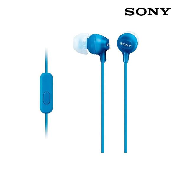 SONY 소니 커널형 이어폰 블루 MDR-EX15AP