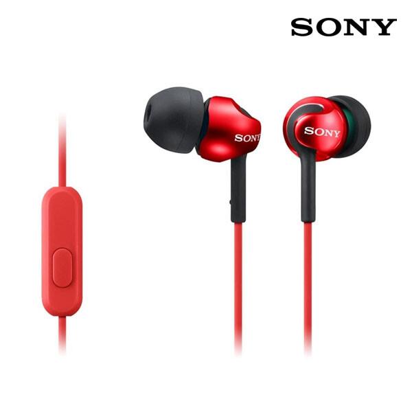 SONY 소니 커널형 이어폰 레드 MDR- EX110AP