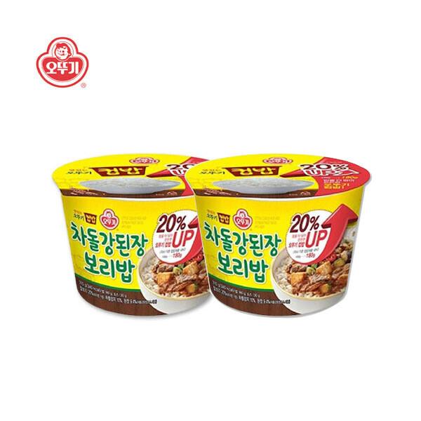 오뚜기 컵밥 차돌 강된장 보리밥 x 2개입 (유통기한 : 2021년 10월 5일 까지)