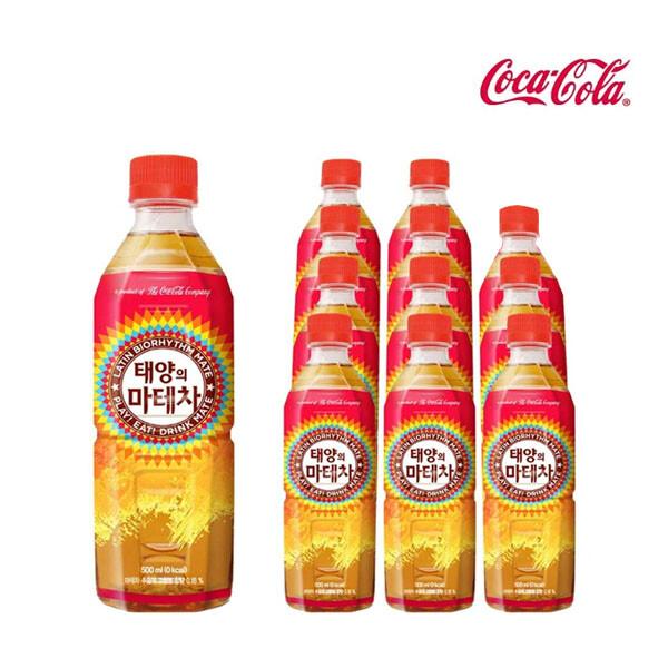코카콜라음료 태양의 마테차 500ml x 12개입 (유통기한 : 2021년 9월 24일 까지)
