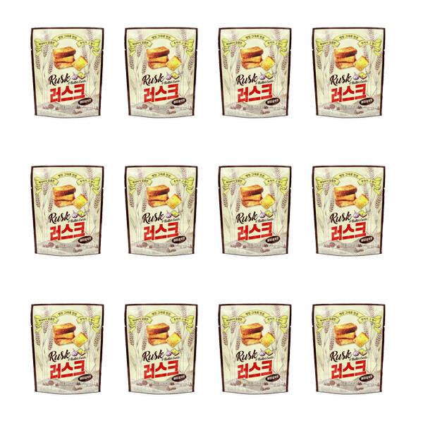 바삭바삭 러스크 버터갈릭맛~! 12개입 x 1박스 (유통기한: 22년 3월 8일까지)