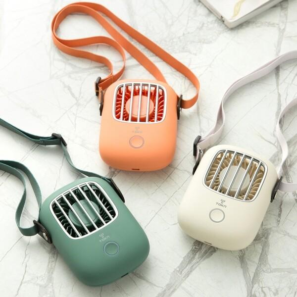 [사전예약~07/28일부터 순차발송]  디자인토큰 휴대용 목걸이 넥밴드선풍기 TN-NF (사용시간 2~6시간/바람세기 3단/145g/1800mAh/1800mAh/BLDC모터)