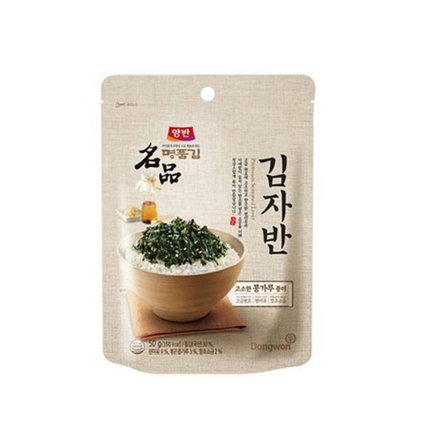식탁 위 필수템!! 고소한 콩가루풍미~ 동원 양반 명품 김자반 50g (1개 발송 / 유통기한 : 2021-10-06)