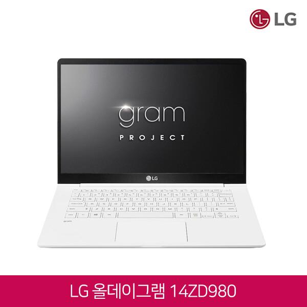 LG 올뉴그램 14ZD980-GX76K (코어i7-8550U/램8G/SSD512G/인텔UHD620/웹캠/14인치FHD 1920x1080/윈도우10PRO)