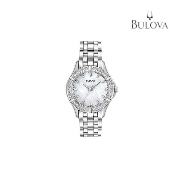 BULOVA 부로바 여성 메탈 손목시계 96R233