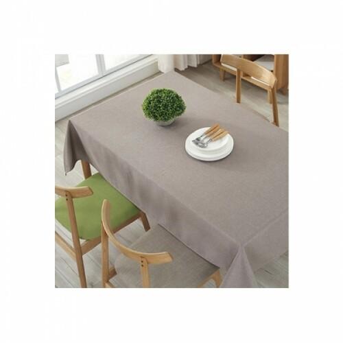 알럽홈 린넨 방수 테이블 보 브라운 140X220